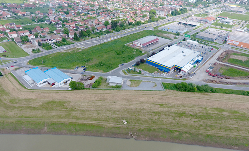 Wastewater and rainwater drainage system in Sisak